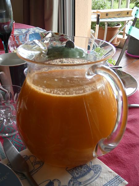 smoothie pomme carotte orange ananas gingembre