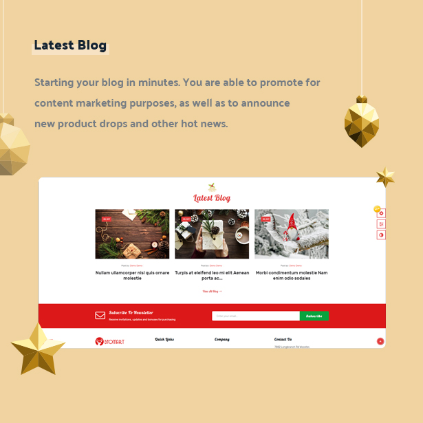 Leo Biomart Gifts Prestashop Theme FOR Christmas