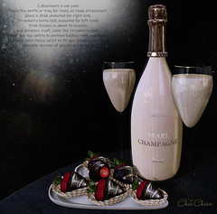 Pearl Champagne and Strawberry on chocolate by ChicChica@ Collabor 88
