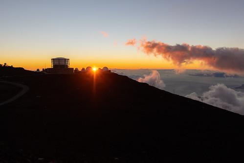 haleakalavolcano hawaii maui observatories haleakala sunset
