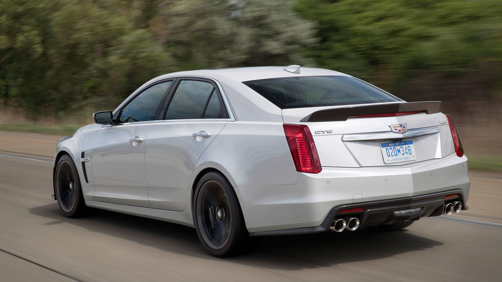 2018 Cadillac CTS-V super sedan with the Carbon Black sport package