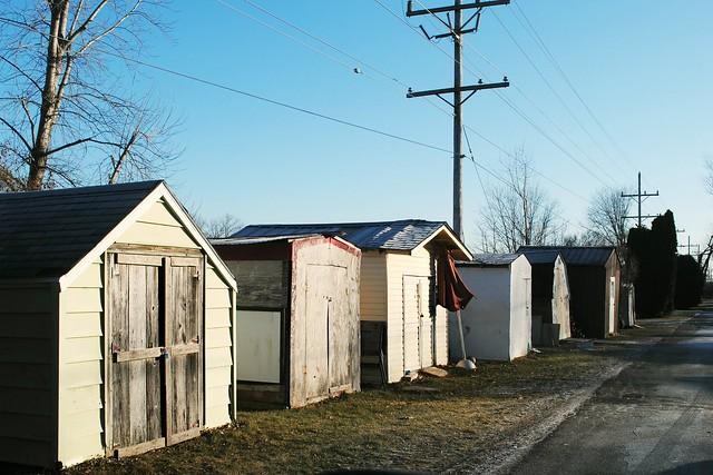 Alley of a trailer park - Capron, Illinois
