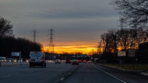 sunrise paintedsky smack53 road clouds newjersey nikon cloudy 10 route coolpix cloudysky p7000 cedarknolls nikonp7000 nikoncoolpixp7000 winter cars highway towers wintertime roadway