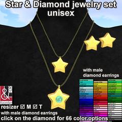 Star & diamond jeverly set unisex (changes colors)