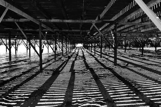 Boardwalk shadows, Weymouth