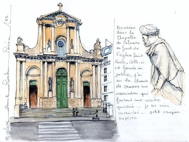 Paris 1er : église Saint Roch  et Nicodème