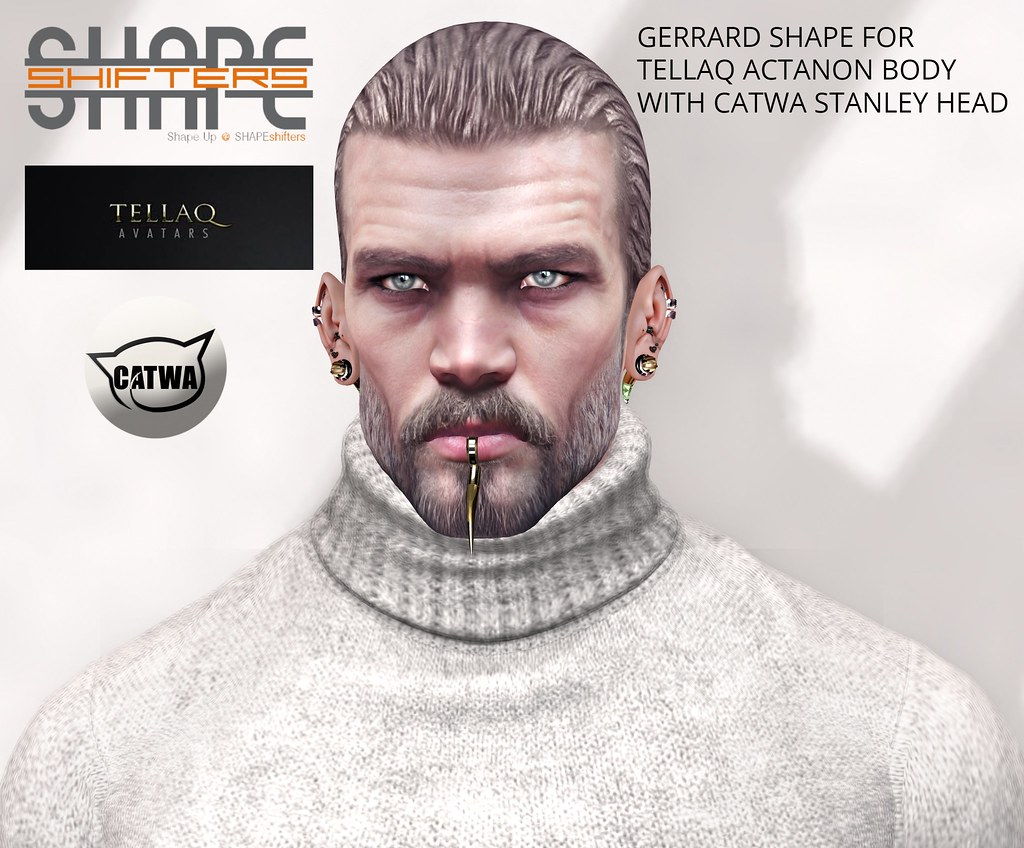 [SHAPEshifters] GERRARD SHAPE FOR TELLAQ ACTANON BODY & CATWA STANLEY HEAD (2)
