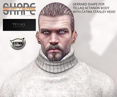 [SHAPEshifters] GERRARD SHAPE FOR TELLAQ ACTANON BODY & CATWA STANLEY HEAD (2)