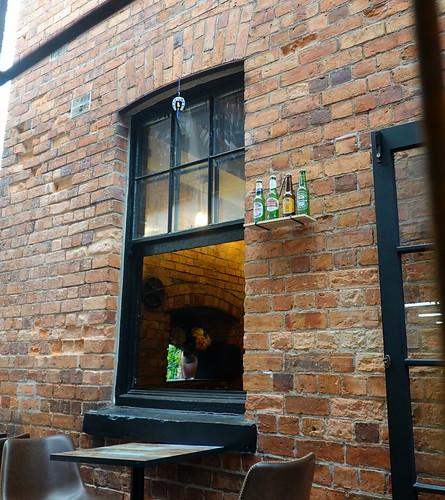 devonport windows 021303 rx100m6 auckland newzealand windowwednesdays window fenster brickwork bricks mauerwerk bottles shelf outdoor outside wednesdaywalls