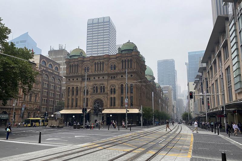 George Street in smoky haze