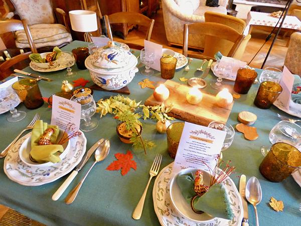table de Thanksgiving 2