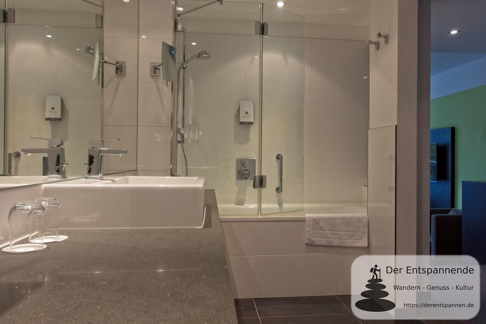 Badezimmer im Hotel im Schulhaus (Lorch)