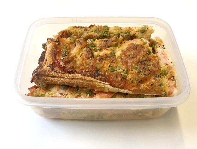 Salmon pizza - Leftovers / Schwedenpizza - Resteverbrauch