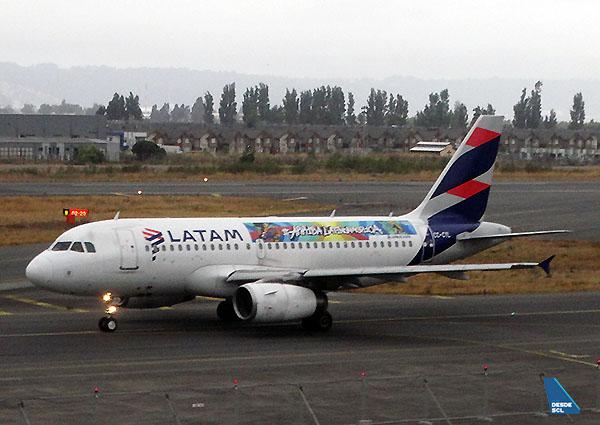 LATAM A319 CC-CYL vuelo LP2396 CCP-LIM (RD)