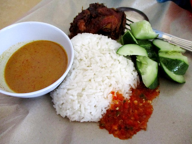 Permai Food Court from the nasi kerabu stall