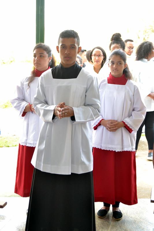 Primeira Missa do Padre Alan na comunidade Santa Teresinha