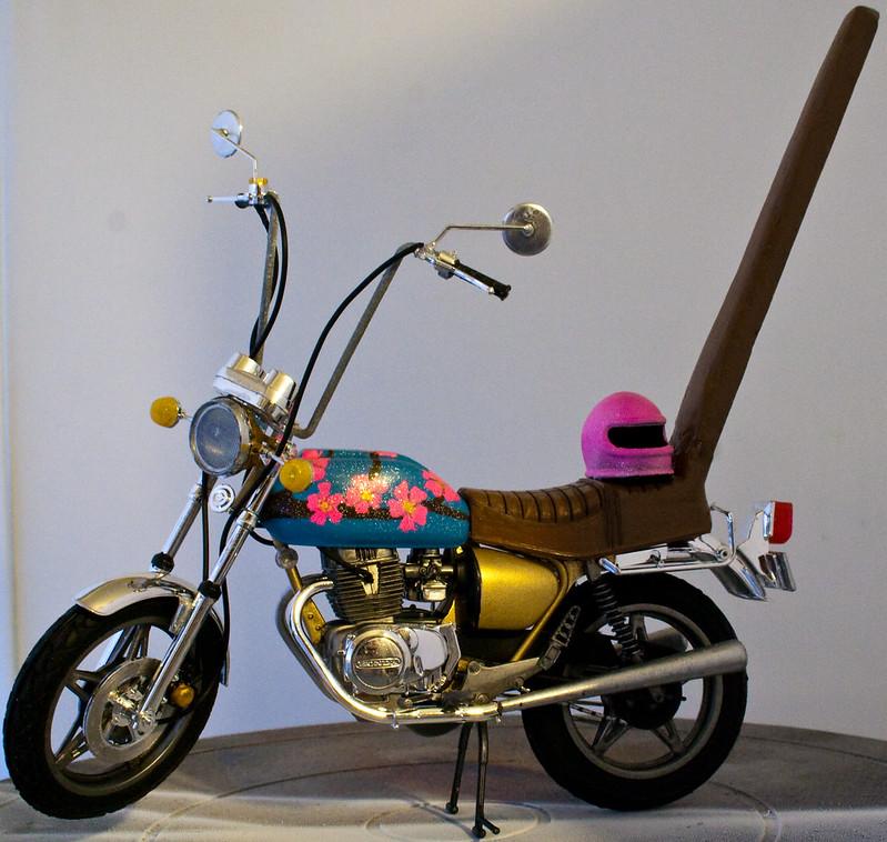 Honda Hawk Bosozoku Bike- finished