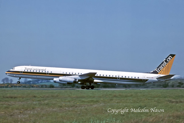 DC8-63 N820TC TRANS CONTINENTAL