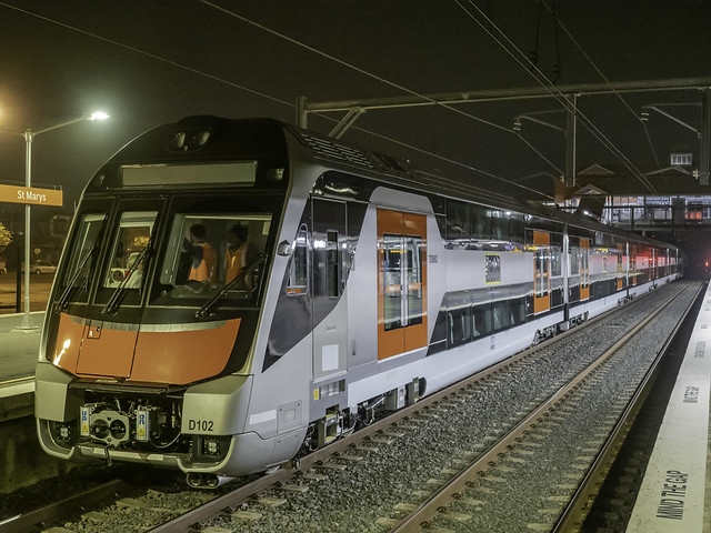 Transport NSW  - New InterCity Fleet (NIF) - Testing commenced tonight