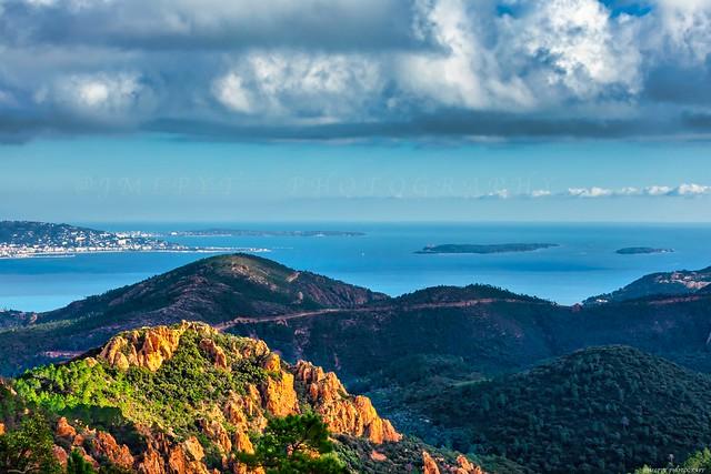 Les Îles de Lérins vues depuis l'Esterel - Côte d'Azur France -3D0A8737