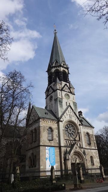 1895/97 Berlin katholische St.-Johannes-Basilika als Garnison-Kirche 78mH von Baurat August Menken Lilienthalstraße 5 in 10965 Neukölln