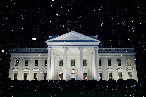 Snowfall at the White House | by The Trump White House Archived