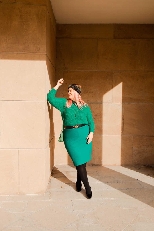 Outfit plus size verde e nero (10)