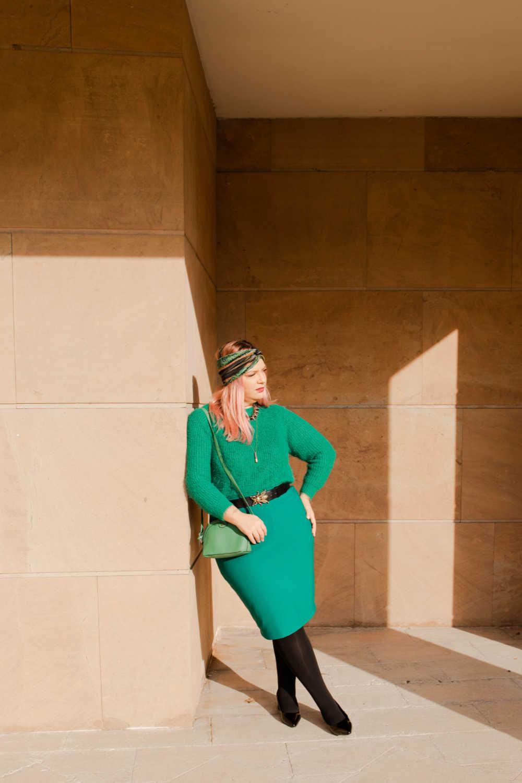 Outfit plus size verde e nero (9)