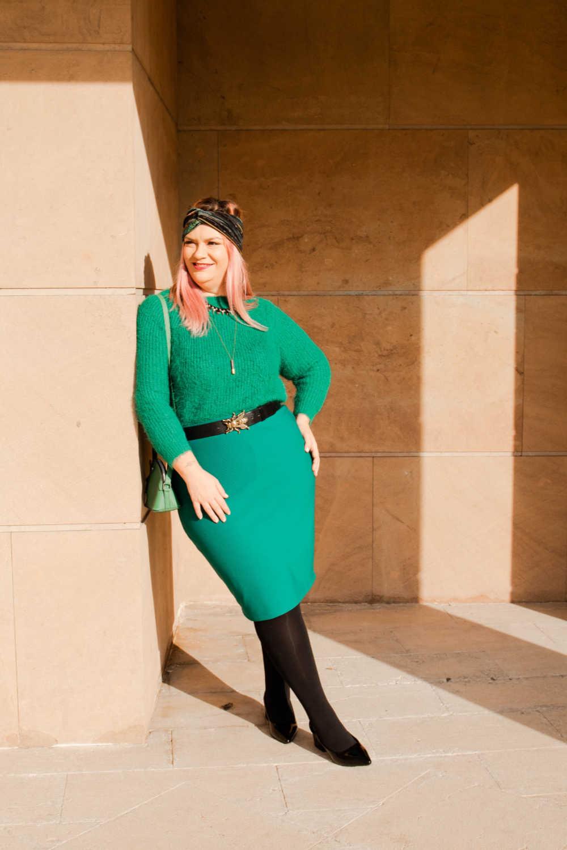 Outfit plus size verde e nero (8)