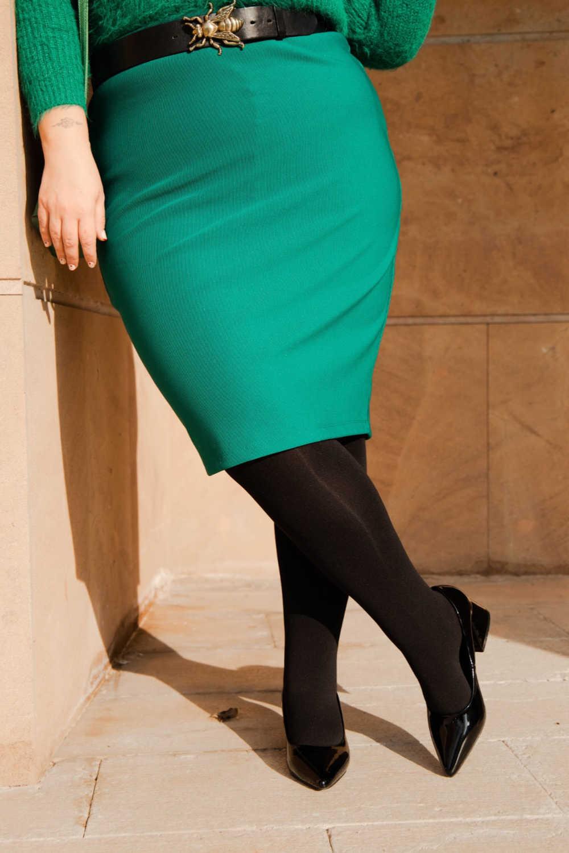 Outfit plus size verde e nero (5)