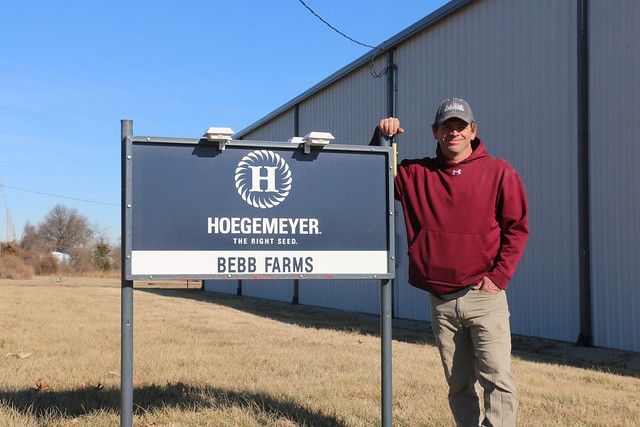 Justin Bebb, owner of Bebb Farms in Altamont, Kansas