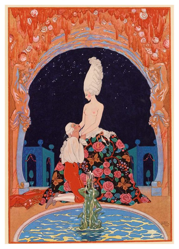 005-En la gruta-Fêtes galantes. Illustrations de George Barbier-1928-Gallica