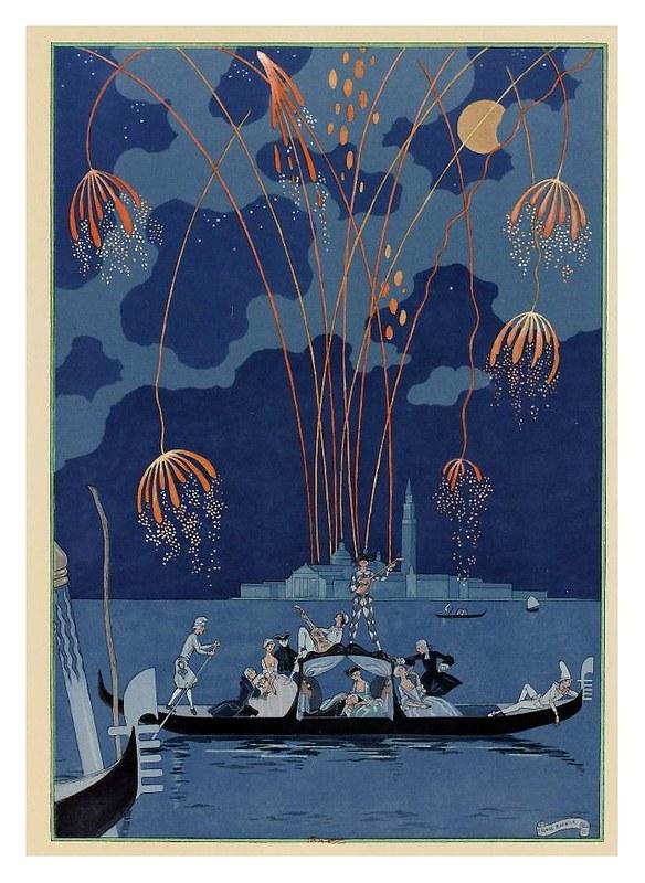 009-En barca-Fêtes galantes. Illustrations de George Barbier-1928-Gallica