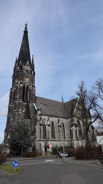 1893/97 Berlin neogotische evangelische Garnisonkirche 90mH von BR Ernst August Roßteuscher Südstern in 10961 Kreuzberg