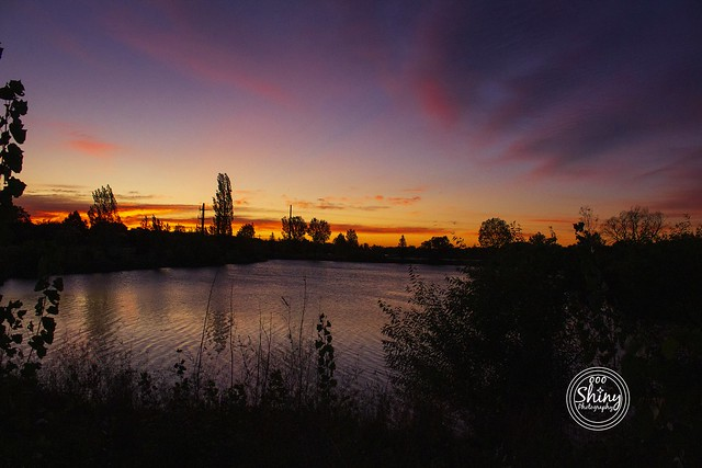 Fabulously colored sunrise over the pond. 10-5-19, at Golden Ponds Park in Longmont, Colorado.  ~ ~ ~ ~ ~  #CanonT5 #Canon #T5 F/6.3 18mm 1/400s ISO-2000 #sunrise #pond #GoldenPondsPark #Longmont #Colorado #oooShinyPhotography #oooShinyPhotos #oooShiny #s