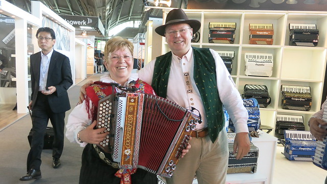 With Breda from Slovenia at the International Music Fair in Frankfurt am Main, Germany