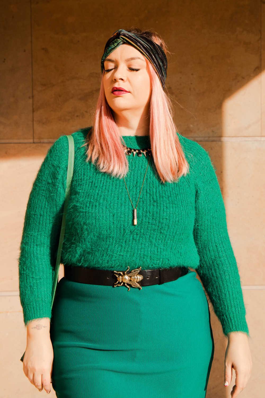 Outfit plus size verde e nero (7)