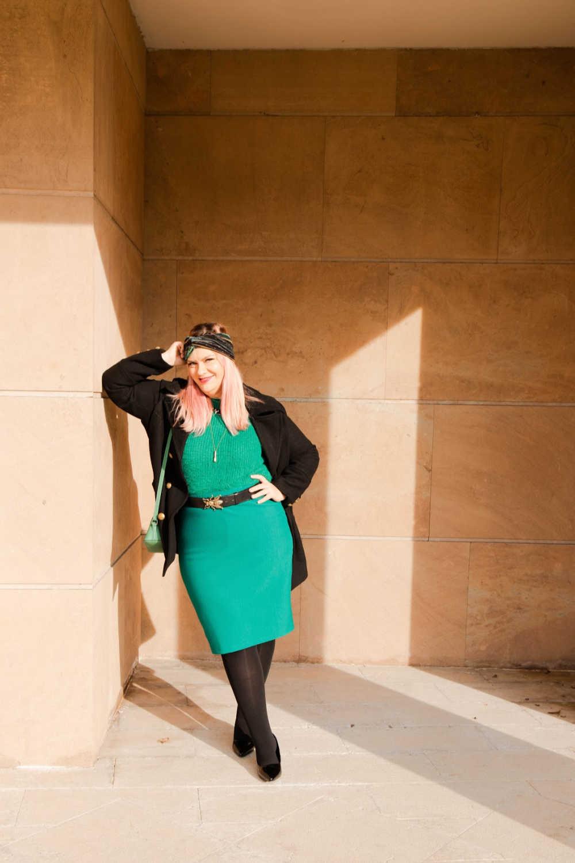 Outfit plus size verde e nero (6)