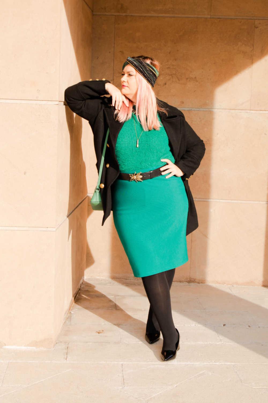 Outfit plus size verde e nero (4)