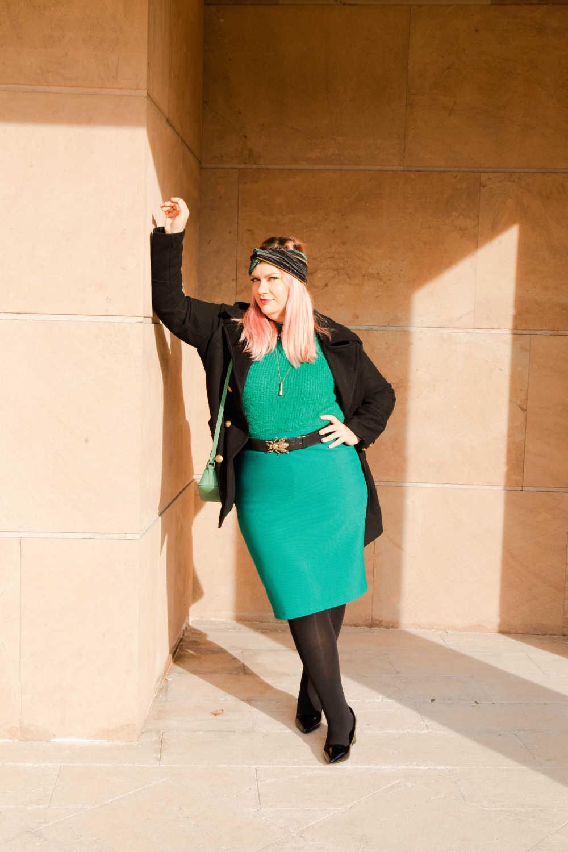 Outfit plus size verde e nero (3)