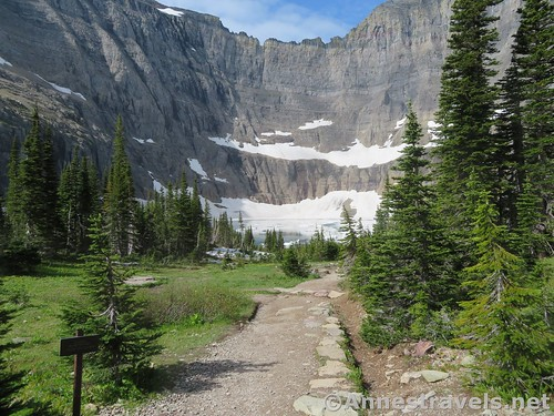 Just before the final descent to Iceberg Lake, Glacier National Park, Montana