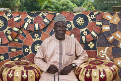 Adamu Ibrahim with his Leather Goods