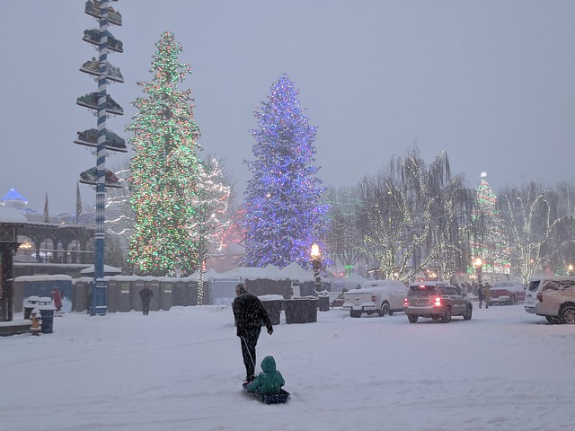 Sledding in Leavenworth