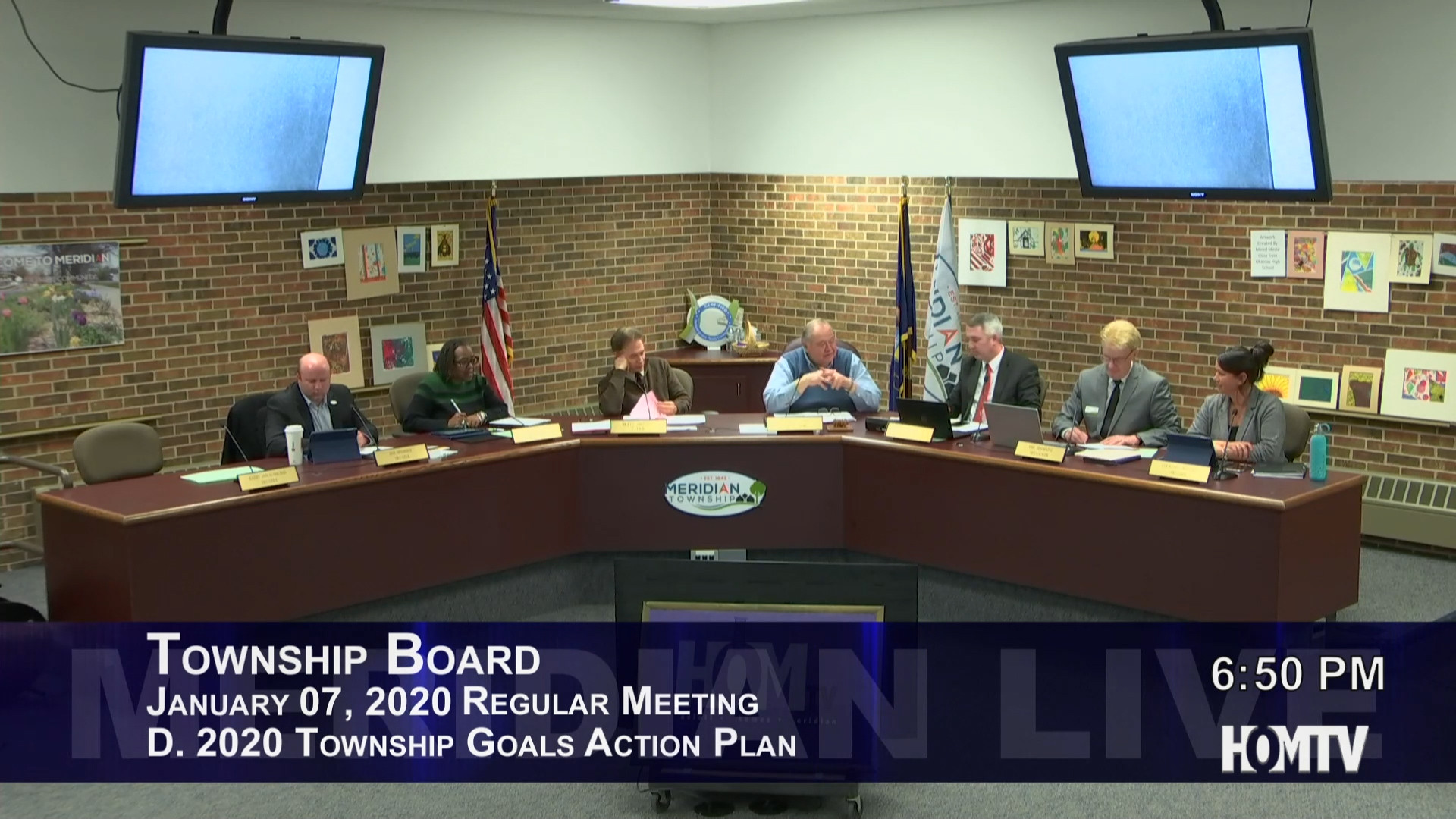 Township Board Discusses Major Goals for 2020