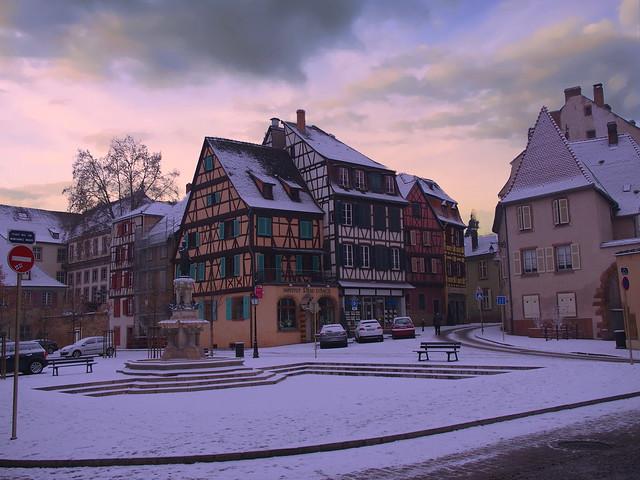 Place des 6 montagnes noires (Colmar, F)