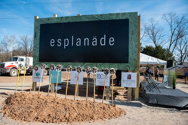 Esplanade Groundbreaking Ceremony Jan. 2020