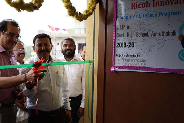 Inauguration of Computer Literacy Program at Amruthahalli Government High School