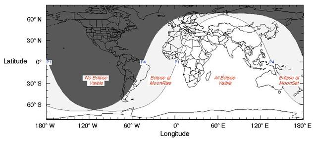 VCSE - A 2020. jún. 5-i fogyatkozás láthatósági térképe - magyarázatot lásd a januári fogyatkozás térképénél. - Forrás: wikipedia.org