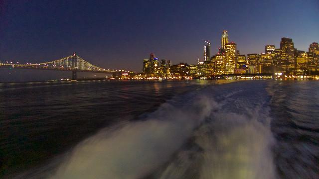 Ferry Wake Leaving San Francisco ....
