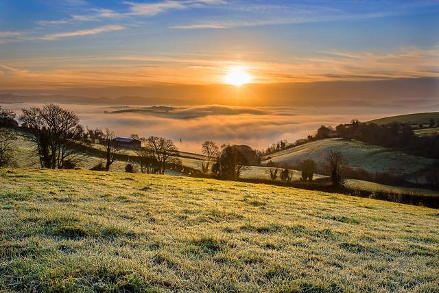 Valley full of fog